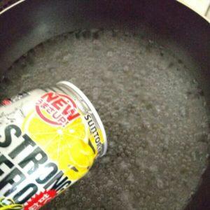 ストロングゼロでラーメンを作る